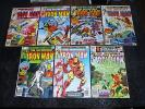 The Invincible Iron Man #'s 126,153,124,117,123,118,125 Great bronze Lot