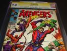 AVENGERS 55 CGC 9.0 SS SIGNATURE 1ST/FIRST ULTRON SIGNED BY STAN LEE 2 1968