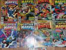 CAPTAIN MARVEL #49-55, #57-62, 1977-1979 -all high-grade Marvel Comics Group