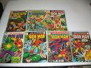 The Invincible Iron Man - LOT of 7 OLD Comics - VG,F,VF - #9,17,20,21,22,31,33