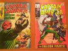 CAPTAIN AMERICA #115 & #118 - FALCON 2nd appearance - RED SKULL - Silver Age