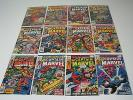 Lot of 12 Captain Marvel comics #'s 43,44,45,46,47,48,49,50,51,52,57 and 58