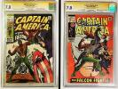 Captain America #117 & #118 CGC 7.0 SS Stan Lee & Joe Sinnott 1st & 2nd Falcon