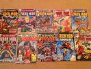 Lot 10 Marvel Comics Bronze Age IRON MAN #56,115-118,122-123,128 + Giant/Annual