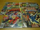 Captain Marvel 53,55-57,60-61 1978  fn+  vfn