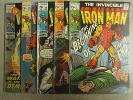1969 Silver Age 15c LOT The Invincible Iron Man 17 22 24 39 42 Stan LeeTuska