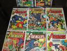 Avengers LOT OF 8 141 140 139 138 137 136 135 134 Captain America Thor Iron Man