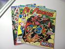 LOT OF 3 MARVEL AVENGERS COMICS #115,117,118 THOR IRONMAN CAPTAIN AMERICA