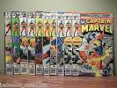 Lot of 10 Comic Books - Captain Marvel #51,51,52,53,57,59,60,60,61,62 Bronze Age
