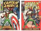 Captain America #117 1st Falcon Very Fine VF, #118  FN- Lot/Set Sept/Oct 1969