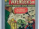 The Avengers #1 (1963) CGC SS 6.0 - STAN LEE Signed - Hulk Iron Man Fantastic 4