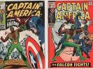 Captain America #117 (VG) & #118 (FN-) (1968 Series) 1st Falcon Sep/Oct 1969