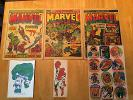 Mighty World Of Marvel 1,2,3 Repro Gifts + Spiderman Issue 2 Repro Tracer Plane