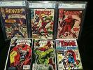 Avengers 57 (CBCS not CGC 9.4), 55 (8.0), 16 (6.0) & Iron Man 304 & 305...