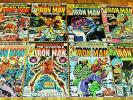 8x IRON MAN no.122-138 bronze-age lot Marvel Comics 1979 Hulk Ant-Man