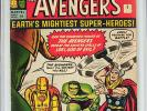 Avengers #1 4.0 Marvel 1963 Thor Iron Man Hulk UK Edition E12 122 cm