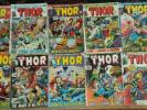 13 Marvel Comics Mighty THOR 195 196 198 199 201 202 203 204 205 206 207 208 209