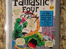 *SIGNED JACK KIRBY* fantastic four #1 marvel milestone edition-certified VF+/NM