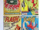 LOT of 4 THE FLASH 122,133,138,154 (1960's) DC Silver Age,Way Below Guide
