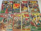 The MIGHTY THOR lot of TEN No.'s 192, 194 - 198, 202, 203, 208, and 209 Marvel