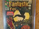FANTASTIC FOUR  #52  CGC  6.5  OFF WHITE TO WHITE PAGES