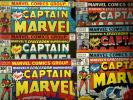 captain marvel (12)  comics book lot  #'s 46-57