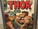 Thor #126 CGC 6.5 1966 1st Issue Avengers Iron Man Thor F10 124 cm new case
