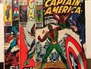 Captain America 117 118 119 VF+/NM-  1st Falcon