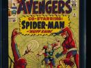 Avengers # 11 - Early Spider-Man x-over CGC 6.5 OW/WHITE Pgs.