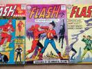 THE FLASH # 137, 138 & ANNUAL # 1 (3 ISSUES) DC 1963 - KEY 1ST JSA X-OVER ETC