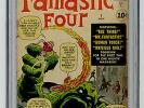 Fantastic Four #1 CGC 4.0 MEGA KEY 1st ap & Origin Kirby Lee Marvel Silver Comic