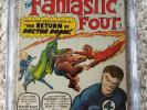 Fantastic Four #10  - CGC 4.0  - Volume 1 - Lee and Kirby in the story