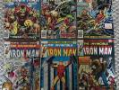 THE INVINCIBLE IRON MAN #96 - #101 COMPLETE RUN, MARVEL COMICS BRONZE AGE