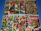Avengers Lot of 10 #101-116 Mid-Grade Bronze Age Marvel Cap Iron Man Thor Vision