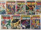 Iron Man # 124 129 130 134 135 136 137 138 139 Lot of 9 Bronze Age Marvel Comics