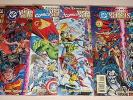 DC Versus Marvel / Marvel Versus DC #1-4 plus Preview w/Batman promo card