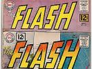DC THE FLASH # 125, 132, 138, 140 and 147; 1961-1964; GOOD - VG; OVERSTREET $100