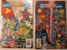 DC versus Marvel / Marvel versus DC #1&3 (Feb 1996, DC) SIGNED BY RON MARZ