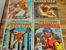 4x IRON MAN no.71 100 126 128 Marvel 1974 keys DEMON IN A BOTTLE classic covers