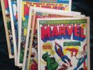 Mighty World of Marvel 1972 job lot issues #1, 2, 3, 7, 8, 9, 10