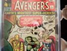 THE AVENGERS #1 (Sep 1963, Marvel) OFF WHITE TO WHITE PAGES MEGA KEY CGC 5.0