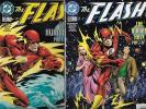 THE FLASH LOT OF 3 - #136 #137 #138 THE HUMAN RACE SET (VF/NM) 1ST BLACK FLASH
