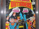 Batman and the Outsiders #1 CGC 9.6 White pages - Outsiders first issue