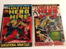 Marvel Comics Group Luke Cage Hero For Hire  # 1 , 2 Diamond Back Origin Issue