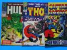 Silver Age, 3 comic lot, CAPTAIN AMERICA 101, HULK 102, JOURNEY into MYSTERY 118