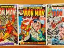 IRON MAN LOT OF 3 BRONZE-AGE COMICS #25-#54-#120