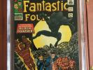 Fantastic Four 52 CGC 6.5 OW/W BLACK PANTHER SWEET SILVER KEY ORIGINAL OWNER