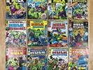 THE MIGHTY WORLD OF MARVEL - INCREDIBLE HULK x 18 1976 Issues Inc No: 198 1677