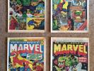 THE MIGHTY WORLD OF MARVEL - UK MARVEL COMICS WEEKLY NOS 2, 3, 4 and 5