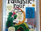 MARVEL MILESTONE EDITION FANTASTIC FOUR #1 (1961) SIGNED JACK KIRBY W/ COA RARE